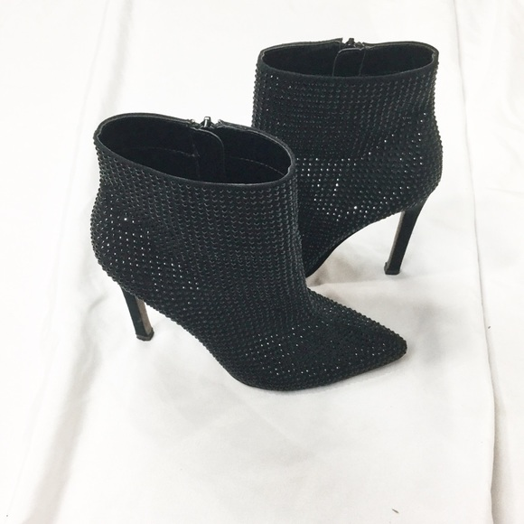 1a7e30da0da23 Aldo Shoes | Black Crystal Stud Heeled Ankle Boots | Poshmark